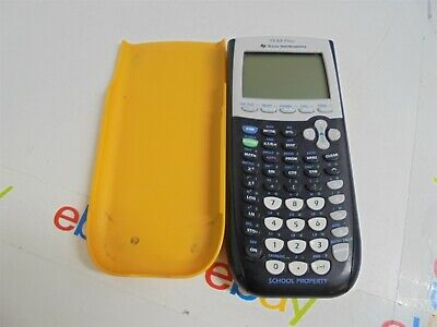 Texas Instruments TI-84 Plus Graphing Calculator Yellow w/ Slide Cover Fair