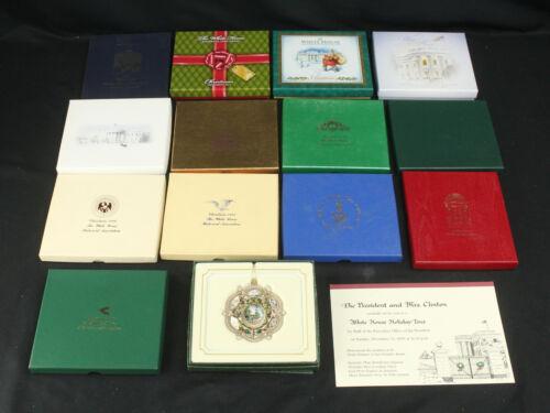 Lot 14 White House Historical Assoc & Secret Service Christmas Holiday Ornaments