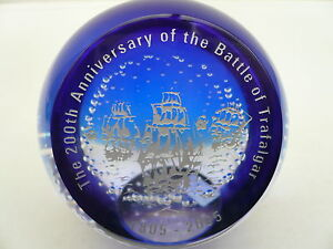 Caithness-Glass-Limited-Edition-Paperweight-200th-Anniversary-Battle-Trafalgar