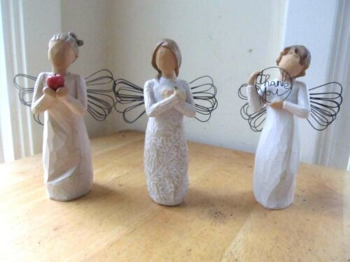 SET OF 3 WILLOW TREE ANGEL FIGURINES  - YOU
