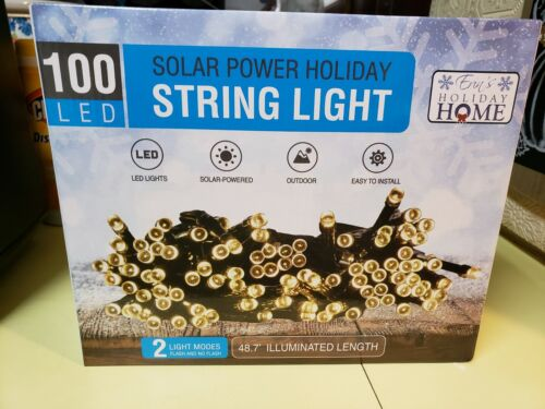 Holiday HOme 100 LED String Lights Solar Power Outdoor Home