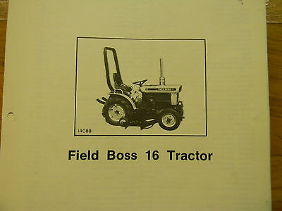 Whites Field Boss 16 Tractor Parts Manual