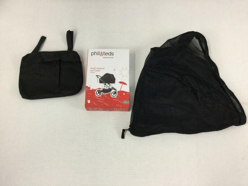 Phil & Teds Snug Carrycot Sun Cover Dash Black NEW Open Box