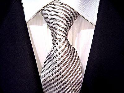 BEXLEYS  Krawatte braun gestreift Seide wie neu Tie Cravatte - Gestreifte Neue Seide Krawatte