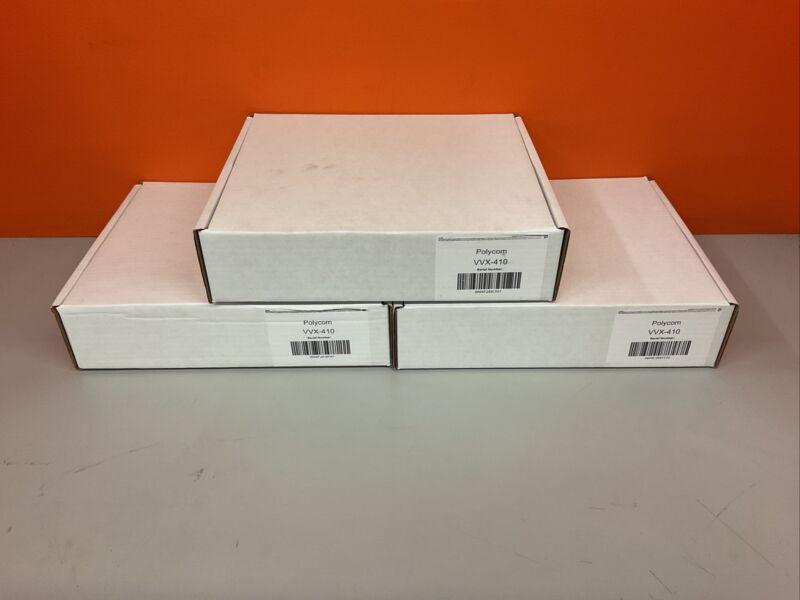Polycom VVX 410 Gigabit PoE 12-line IP Phone - Black Grade A Seller Refurbished