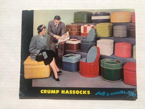 1950 Mid-Century Crump Hassocks Ottomans Furniture Catalog
