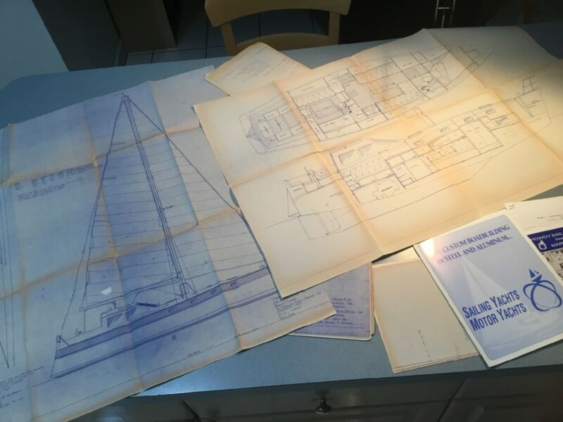 SET 7 Nautical Plans BLUEPRINTS OF BOAT SAILING YACHT 1990