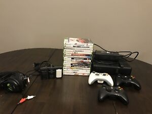 Xbox 360, 16 games, 3 controllers
