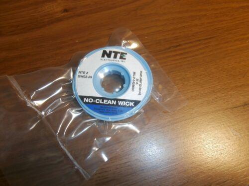 "SW02-25 NTE NO Clean Solder Wick 25 Ft #4 Blue (2.5mm) .098"" W,NEW"