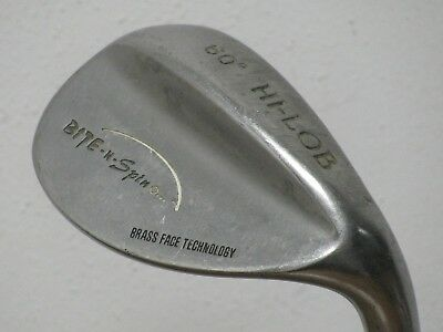 Used, BITE-N-SPIN 60* Hi-Lob Wedge LW Brass Face Wedge Flex Steel Very Nice!! for sale  Shipping to India