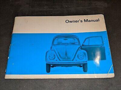 1970 70 Volkswagen VW Beetle Bug Type 1 Owner Manual Original -