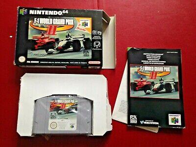 Boxed Nintendo 64 N 64 N64 Game Complete F-1 World Grand Prix II 2 Two