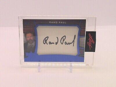 Decision 2020 RAND PAUL 3/5 Encased Cut Signatures Auto Blue Foil #NNO