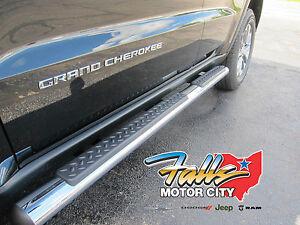 2011-2018 Jeep Grand Cherokee Chrome Side Steps Running Boards Nerf Bars Mopar