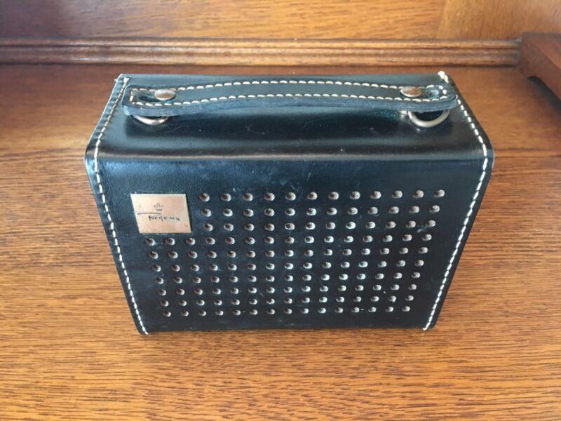 Vintage Regency Transistor Radio Model TR-6 With Leather Case and Original Box