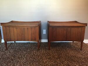 Midcentury walnut end tables