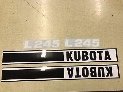 Kubota L245 Hood Decals