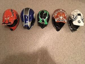 5 helmets clean and lightly used