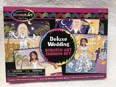 Melissa&Doug SCRATCH ART Deluxe Wedding FASHION SET STICKERS ages 4-104 Fun NEW