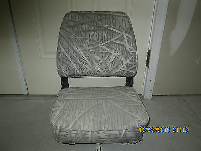 Wise Folding Boat Seat Mossy Oak Camouflage