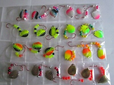 12 Walleye Spinners Crawler Harness Hooks Lures Baits Trolling Casting Blades