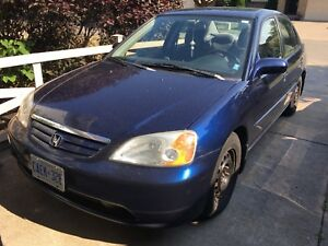 2001 Honda Civic 5 Speed Manual, LOW KILOMETRES!