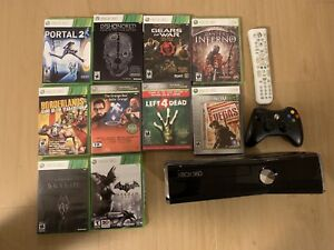 Xbox 360 plus games and remote