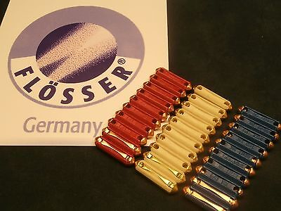 VW FLOSSER TORPEDO FUSES  30 PACK WHITE 8A RED 16A BLUE 25A 10 EACH GERMANY