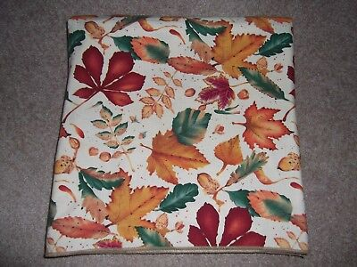 """Fall Leaf Rectangle Fabric Tablecloth 102' x 100"""", used for sale  Millville"""