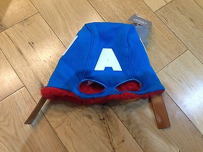 Captain America Fleece Hat For 3 To 6 Years Old
