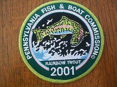 "Pa Pennsylvania Fish Game Commission 1997 Neshannock Creek 4/"" Fishing Patch"