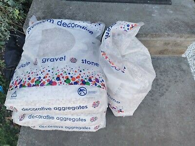 80kg White Marble 10mm Garden Gravel Pebbles Stone Aggregates
