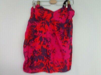 Länge Womens Bademode (Women's Liz Lange Maternity Swimsuit XXL Halter Top Pink Purple Padded)