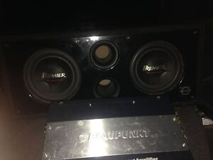 Subs and amp for car