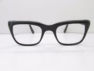 Zyloware Nylon EYEGLASSES FRAMES 46-22-140 Vintage Black Cat Eye TV6 (Nylon Eyeglass Frames)