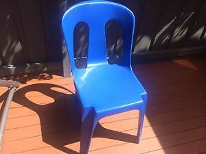 22 Outdoor Plastic Dining Chairs Black Rock Bayside Area Preview