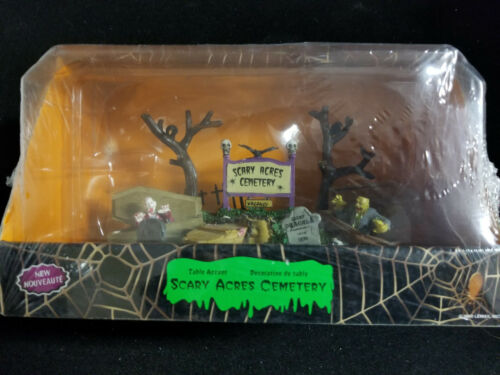 Scary Acres Cemetery Collection by Lemax Halloween Decoration Graves Tombstones