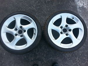 Porsche 911 twin turbo rear wheels and tires
