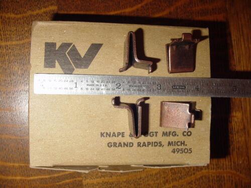 Sold as a set of 8 - Knape & Vogt Shelf Supports  No. 256 WAL (walnut)
