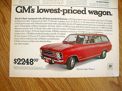 1970 Buick Opel Wagon Ad  $2248.00