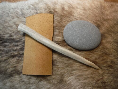 NATURAL FLINT KNAPPING KIT Primitive Skinning Knife Preform Tool Hammerstone