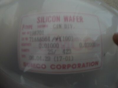 25 Silicon Wafer P-type 150mm 100 Sumco