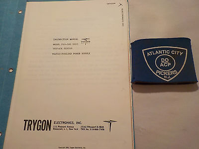 Trygon P60-500 S912 Trypack Series Power Supply Instruction Manual