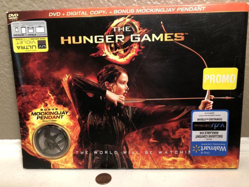 RARE PROMO Promotion The Hunger Games Movie DVD+Digital Copy+Mockingjay Pendant