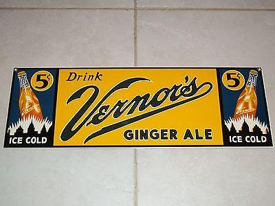 BEWARE! Fake NEW Fantasy1999 VERNOR'S Ginger Ale PORCELAIN SIGN Soda Ande Rooney