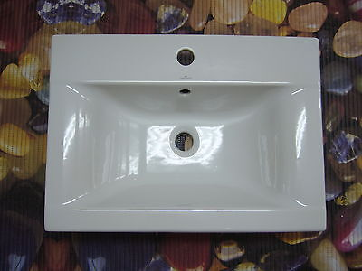 Einbauwaschtisch, Einbau Waschbecken 60 x44cm weiss NEU