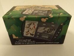 IDENTIFLYER BIRD SONG SINGING ALARM CLOCK MODEL CK-02 NEW OPEN BOX