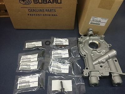 Genuine Subaru 11mm 2.5L Oil Pump w/ Bolts & Seals WRX STi Turbo Oem IMPREZA -