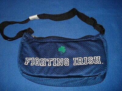 Notre Dame Purse - Fighting Irish Shoulder Bag - Dark Blue Jersey Material Purse