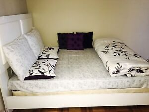 Double size bed with box spring